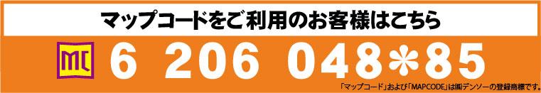 マップコード 6 206 048*85