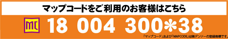 マップコード 18 004 300*38